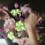 """Пример сборки букета из шелковых цветов """"Вкус персика"""" в японской технике Tanjobana"""