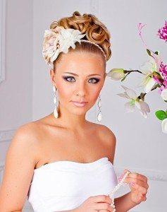 цветок из ткани для прически невесты